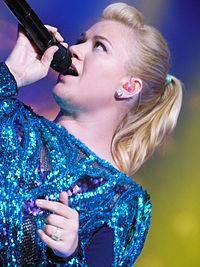 Kelly Clarkson performing during the 12th Annual Honda Civic Tour.