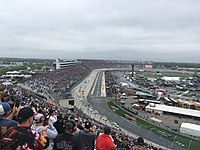 Kevin Harvick leads on the first lap of the AAA 400 Drive for Autism at Dover International Speedway in May, a race he wins