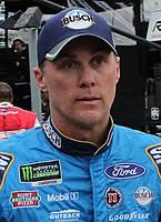Kevin Harvick, finished 6 points behind Joey Logano in third place.