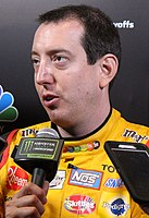 Kyle Busch, finished 7 points behind Joey Logano in fourth place.