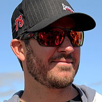 Martin Truex Jr., finished 5 points behind Joey Logano in second place