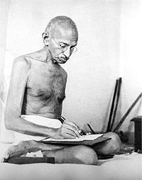 Gandhi in 1942, the year he launched the Quit India Movement