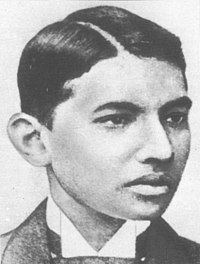 Gandhi in London as a law student
