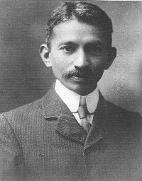 Gandhi photographed in South Africa (1909)