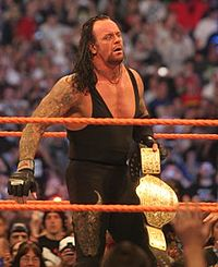 The Undertaker after he defeated Edge at WrestleMania XXIV