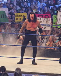 The Undertaker, after defeating Shawn Michaels at WrestleMania XXV