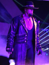 The Undertaker approaching the ring at WrestleMania XXX in 2014