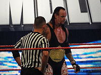 The Undertaker defending the World Heavyweight title at the Royal Rumble in January 2010