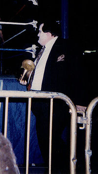 Paul Bearer betrayed The Undertaker by hitting him with the urn he is seen carrying here