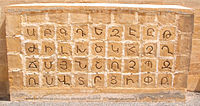 The Armenian Alphabet at the Melkonian Educational Institute. Armenian is recognised as a minority language in Cyprus.