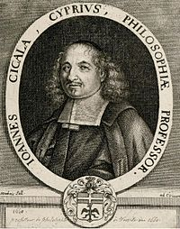 Ioannis Kigalas (c. 1622–1687) was a Nicosia born Greek Cypriot scholar and professor of Philosophy who was largely active in the 17th century.