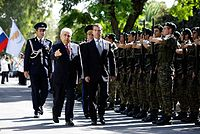 Welcoming ceremony by soldiers of the Cypriot National Guard