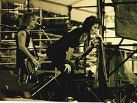 Jett performing live at the Bumbershoot festival, in Seattle, Washington, 1994