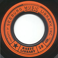 1959 Seeburg 16 rpm record (label only)