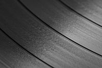 Grooves on a modern 33 rpm record.