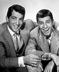 Lewis with Dean Martin in 1950