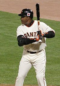 Bonds at the plate with the Giants