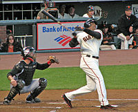 Bonds in August 2006 with the Giants