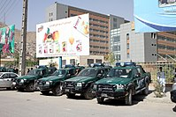 Common vehicles of the Afghan National Police