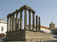 Roman Temple of Évora, in the Alentejo, is one of the best preserved Roman-built structures in the country.