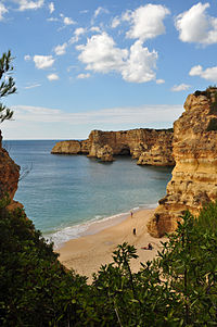 The Marinha Beach in Lagoa, Algarve is considered by the Michelin Guide as one of the 10 most beautiful beaches in Europe and as one of the 100 most beautiful beaches in the world.