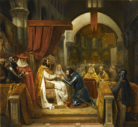 Alfonso VI of León investing Henry, Count of Portugal, in 1093