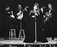 Amália Rodrigues, known as the Queen of Fado, performing in 1969