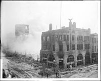 <center>Times 1886 building after bombing on October 1, 1910</center>
