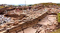 Neolithic settlement at Brodgar, (August 2014)