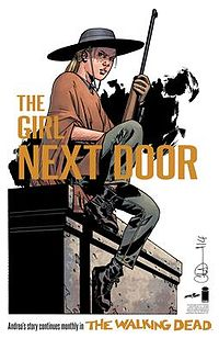 """A promotional image of Andrea in """"A New Beginning"""" set two years after the war with Negan. Art by Charlie Adlard."""