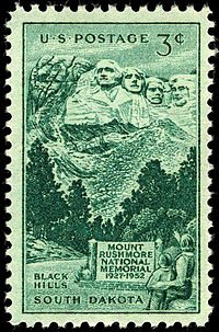 Mount Rushmore commemorative stamp of 1952