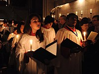 The large repertoire of Advent and Christmas church music plays an important role in services