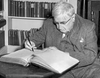 Ralph Vaughan Williams (1872–1958), a British composer who helped to popularise many medieval and folk carols for the modern age
