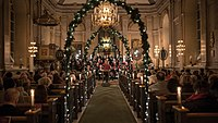 Classical concerts are popular at Christmas, such as this performance in a church in Sweden