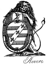 Revere Coat-of-Arms engraved by Paul Revere