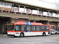A Nassau Inter-County Express bus