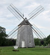 The c. 1806 Old Hook Mill in East Hampton is one of eleven extant windmills in Suffolk County.