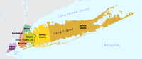 The four counties of Long Island include two independent counties (Nassau and Suffolk) and two New York City boroughs (Brooklyn and Queens).
