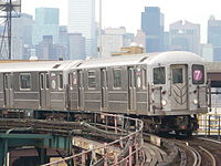 A 7 train in Queens