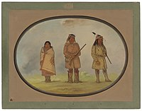 Three Lenape Indigenous Americans