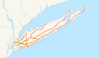 Schematic map of LIRR system