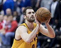 Starting power forward and 2016 NBA Champion Kevin Love