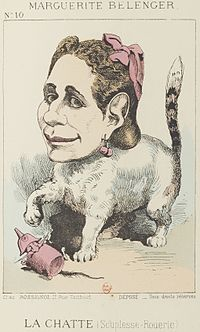 Paul Hadol's caricature of Marguerite Bellanger toying with Napoleon