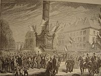 """At the outbreak of the war, crowds gathered on the Place de la Bastille, chanting """"To Berlin!"""""""