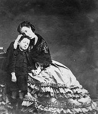 Eugénie and the Prince Imperial in 1862