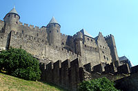 Napoleon III commissioned Eugène Viollet-le-Duc to restore the medieval town of Carcassonne in 1853.