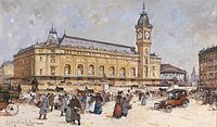 The Gare de Lyon and Gare du Nord railway stations in Paris were built by Napoleon III. During his reign, the railway network of France expanded from 3 500 kilometers to 20 000 kilometers.