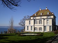The lakeside house at Arenenberg, Switzerland, where Louis Napoleon spent much of his youth and exile