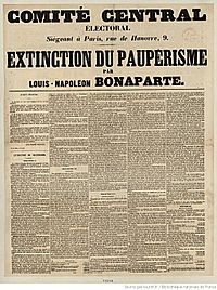 """Louis Napoleon's essay, """"The Extinction of Pauperism"""", advocating reforms to help the working class, was widely circulated during the 1848 election campaign."""