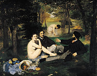 When Édouard Manet's Le Déjeuner sur l'herbe and other avant-garde paintings were rejected by the Paris Salon of 1863, Napoleon III ordered that the works be displayed, so that the public could judge for themselves.